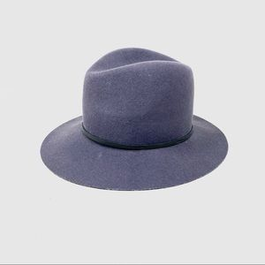 Janessa Leone dark grey wool felt hat M $225